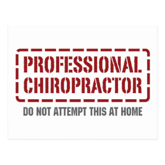 Beruflicher Chiropraktor Postkarte
