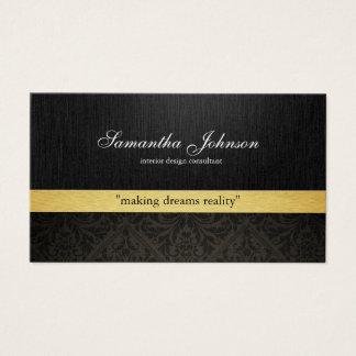Beruflicher eleganter Damast (metallisches Gold) Visitenkarten