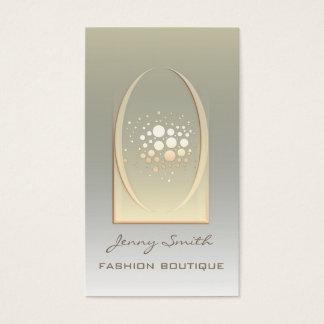 Beruflicher eleganter goldener/Bronzeluxusconfetti Visitenkarten