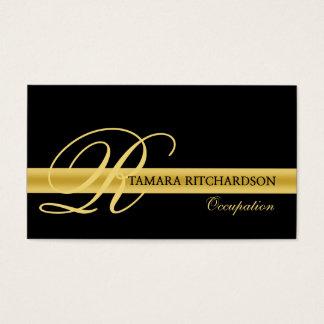 Beruflicher eleganter Luxusgeschäftskartenentwurf Visitenkarte
