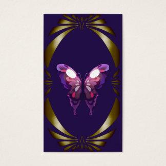Beruflicher eleganter Mode-Designer-Schmetterling Visitenkarten