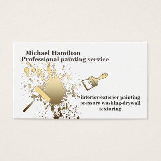 Beruflicher eleganter moderner Malereiservice Visitenkarten
