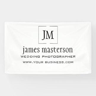 Beruflicher Geschäfts-Logo-Monogramm-Minimalist Banner