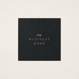 Beruflicher moderner unbedeutender Élégante Noir Quadratische Visitenkarte