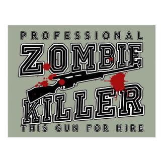 Beruflicher Zombie-Mörder Postkarte