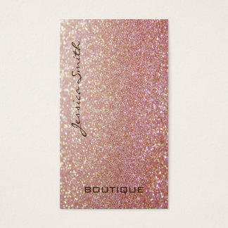 Berufliches bezauberndes elegantes glittery visitenkarten