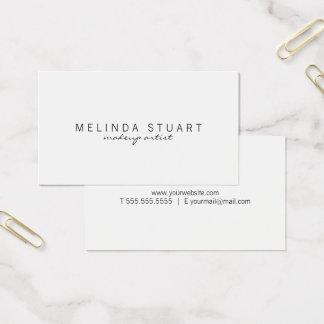 Berufliches einfaches modernes Weiß Visitenkarte