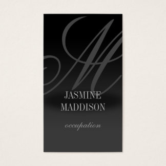 Berufliches elegantes Geschäftskarte Schwarz-Grau Visitenkarte
