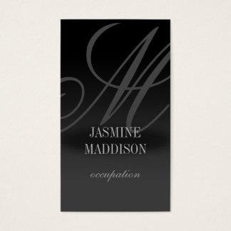 Berufliches elegantes Geschäftskarte Schwarz-Grau Visitenkarten