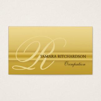 Berufliches elegantes Luxusgeschäftskarte Gold Visitenkarte