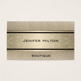 Berufliches elegantes modernes Luxusglittery Visitenkarte