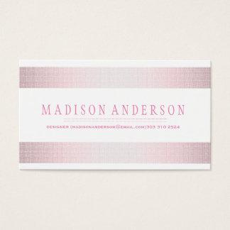Berufliches elegantes modernes rosa Abzeichen Visitenkarten