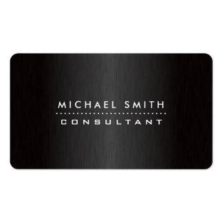 Berufliches elegantes schwarzes modernes visitenkarten