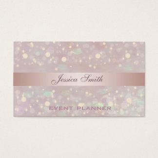 Berufliches elegantes zeitgenössisches Glitter Visitenkarte