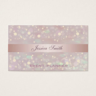 Berufliches elegantes zeitgenössisches Glitter Visitenkarten