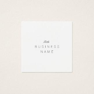 Berufliches Minimaliste Élégante Noir und Blanc Quadratische Visitenkarte