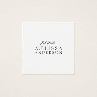 Berufliches modernes elegantes Minimalistisch Quadratische Visitenkarte
