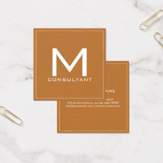 Berufliches Monogramm-elegantes modernes Kupfer Quadratische Visitenkarte