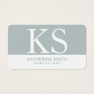 Berufliches Monogramm-elegantes Visitenkarten