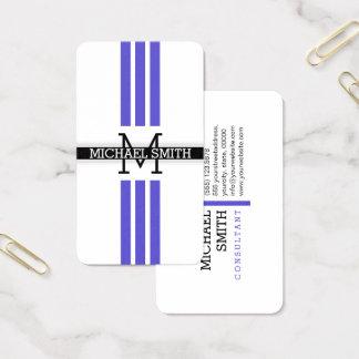 Berufliches Monogramm-moderne Iris-Streifen Visitenkarte