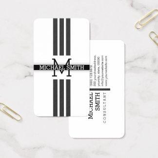 Berufliches Monogramm-moderne Jet-Streifen Visitenkarte