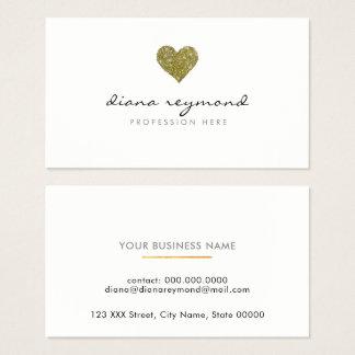 berufliches Visitenkarte-/Liebe-Imitatgoldherz Visitenkarte