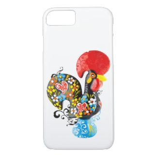 Berühmter Hahn von Barcelos Nr 06 - Blumenausgabe iPhone 8/7 Hülle