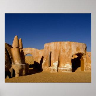 Berühmtes Film-Set Stern-Kriegsfilme in Sahara Poster