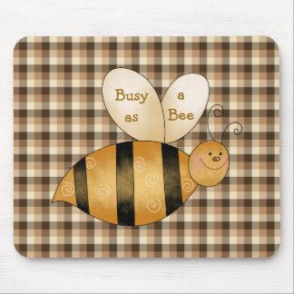 Beschäftigt als Bienen-Spaß Mousepad