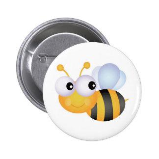Beschäftigte Biene Runder Button 5,7 Cm