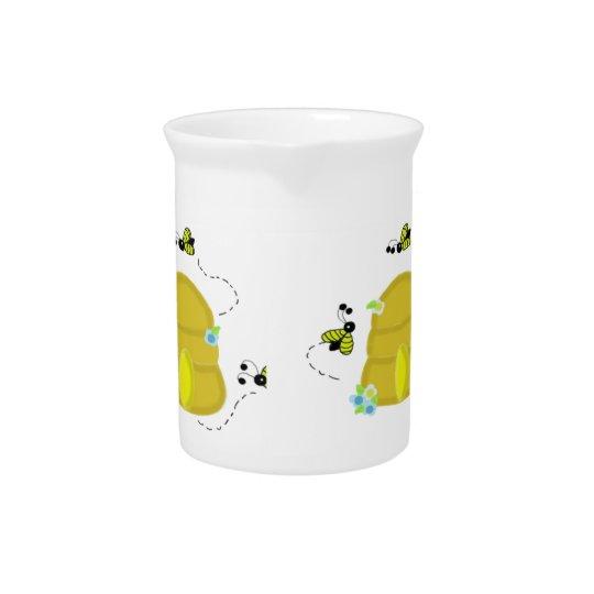 Beschäftigte Bienen-Bienenstock-Krug Getränke Pitcher