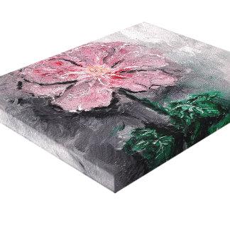 Beschatteter Blumenblatt-Öl-Leinwand-Druck