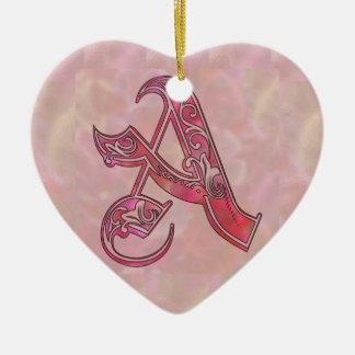Beschriften Sie A Keramik Ornament