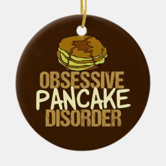 Besessene Pfannkuchen-Störungs-lustiges Frühstück Keramik Ornament