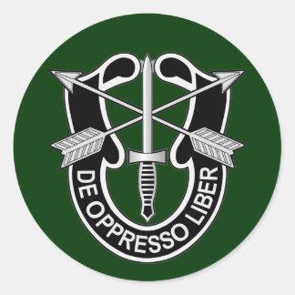 Besondere Kräfte DUI - de Oppresso liber Runde Aufkleber