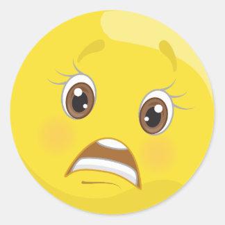 Besorgte Emoji Aufkleber