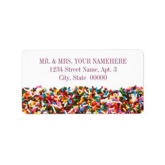 Besprühen-Gefüllte Adressen-Etiketten Adressetikett