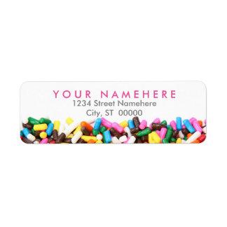 Besprüht Adressen-Etiketten Rücksendeetiketten