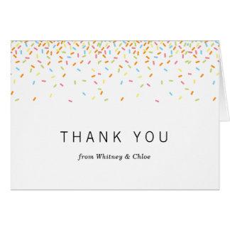 Besprüht danken Ihnen zu kardieren Mitteilungskarte