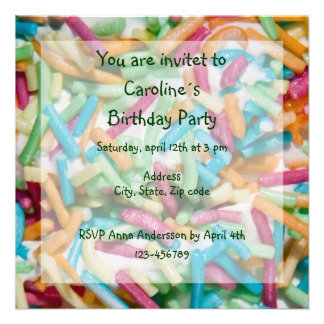 Besprüht Einladung