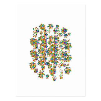 BESPRÜHTE Juwel-Dekorationen UNTERZEICHNUNGS-Kunst Postkarte