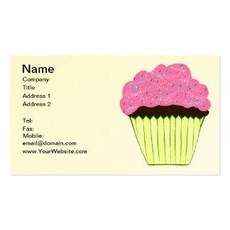 Besprühte rosa Zuckerguss-kleine Kuchen Visitenkarte