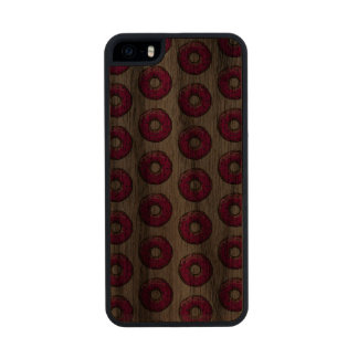 BESPRÜHTER ROSA dünner Walnuss iPhone 5/5S Kasten