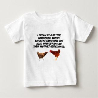 Bessere Welt für Hühner Baby T-shirt