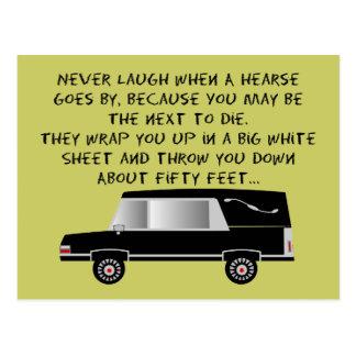Bestattungsunternehmer-/Leichenbestatter-lustiger Postkarte