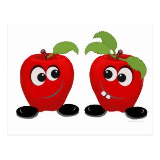 Beste Freund-Äpfel Postkarte