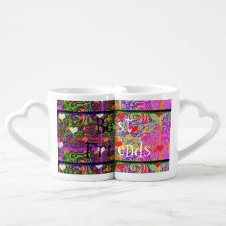 Beste Freund-Kaffee-Tassen-Set Herztassen