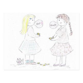 Beste Freund-Mädchen Postkarte