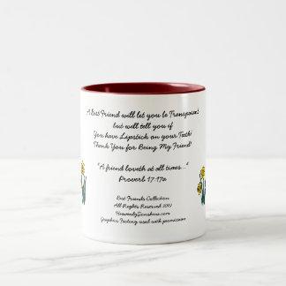 Beste Freund-Sammlung transparent Zweifarbige Tasse