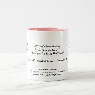 Beste Freund-Sammlungs-Beifall Zweifarbige Tasse
